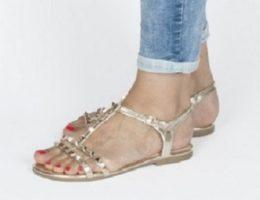Ženske sandale podpirajo celo stopalo na podplatu